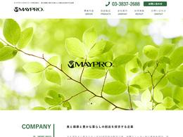 Web制作実績 メイプロインダストリーズ株式会社様 - 会社HP