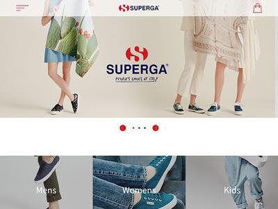 ホームページ制作実績 SUPERGA ブランドサイト