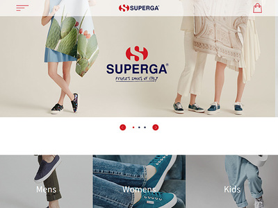 Web制作実績 SUPERGA ブランドサイト
