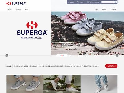 ホームページ制作事例 SUPERGA ECサイト