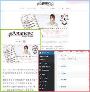 ホームページ制作実績 外国人と日本人の友達作り支援アプリ [アパニーズ フレンド サーチ]