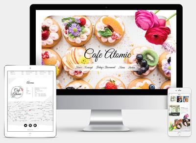 ホームページ制作実績 カフェのサイトデザイン提案