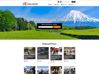 ホームページ制作実績 OMAKASE|訪日外国人向け体験ツアー