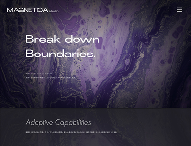 ホームページ制作実績 コーポレートサイト | MAGNETICA studio