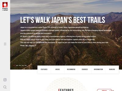 ホームページ制作実績 「HIKES IN JAPAN」Webサイト新規制作