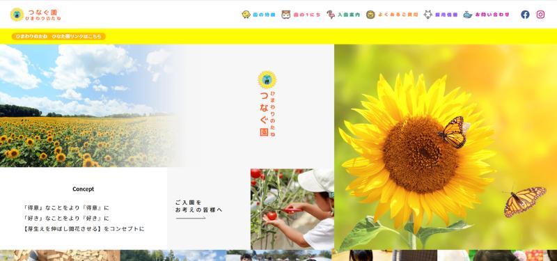ホームページ制作実績合同会社ひまわりのたね(ひまわりのたね つなぐ園) 様HP制作