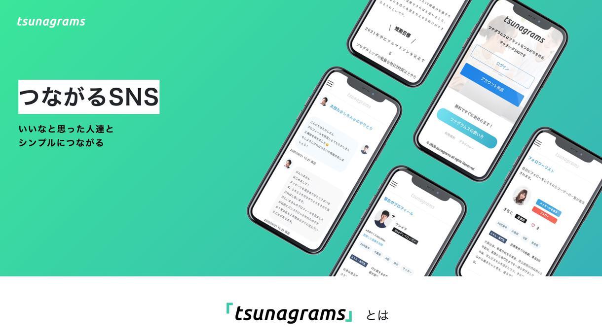 ホームページ制作実績フリーランス向けSNSサイト「ツナグラムス」